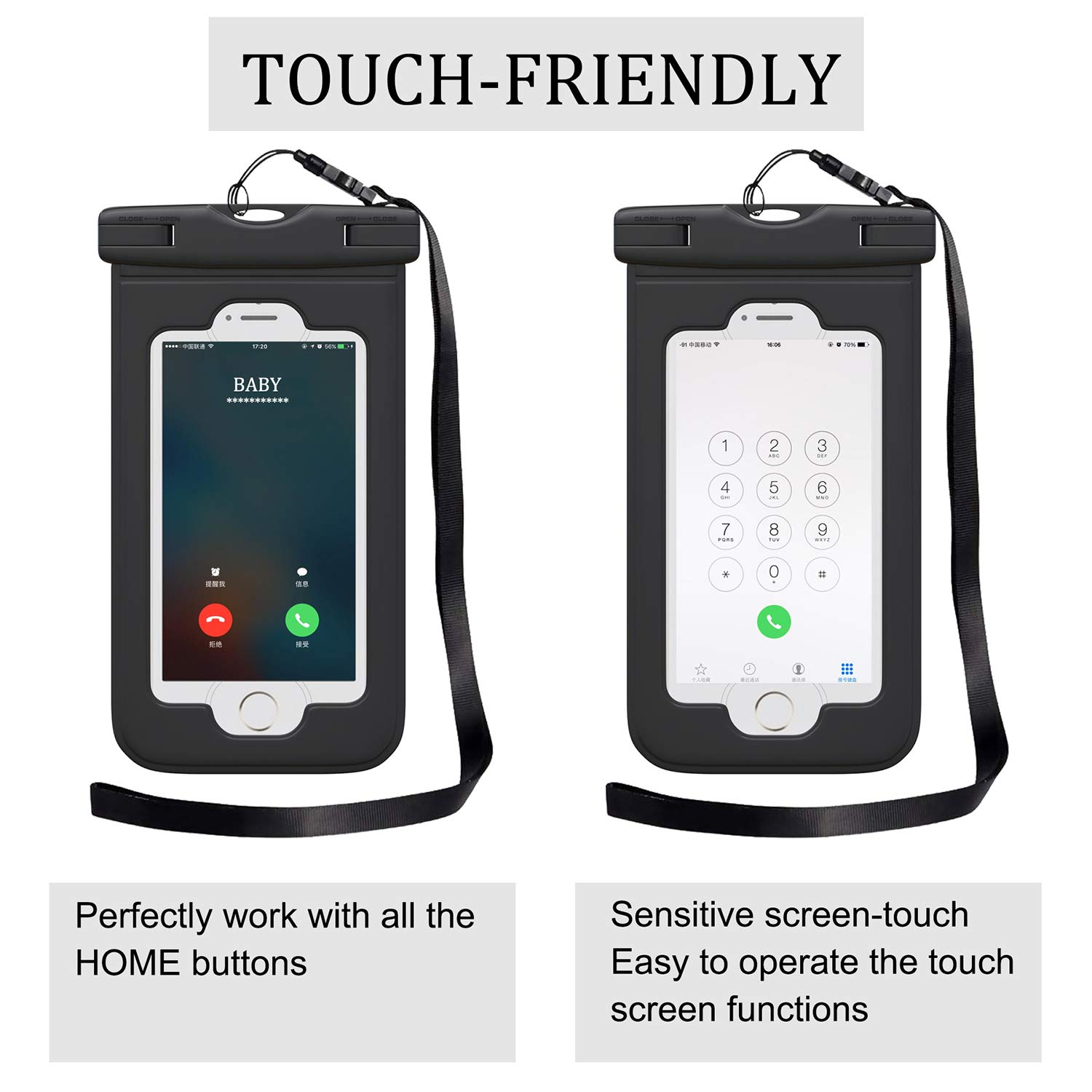 Darller Waterproof Fanny Pack Set Phone Pouch with Waist//Shoulder Strap Keep Your Phone and Valuables Dry and Safe
