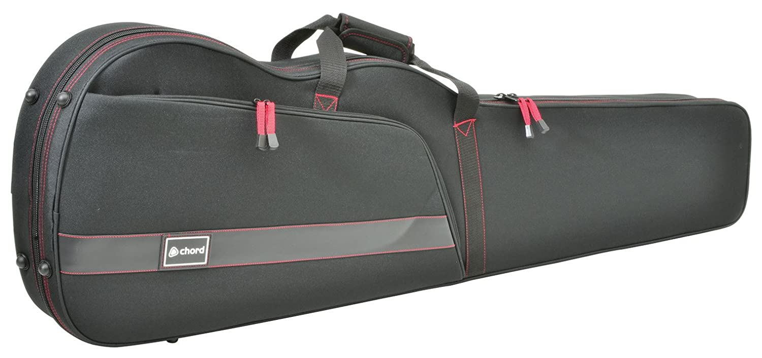 chord SFC-B1 Solid Foam Bass Shaped Case for Guitar 174.884UK chord Solid Foam Bass Shaped Guitar Case Ultra Lightweight yet heavy duty with external pocket and rubber feet