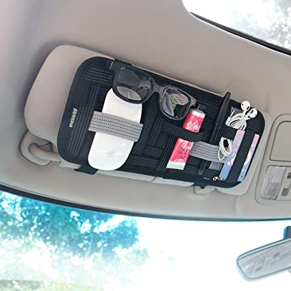 Amazon Com Yier Car Sun Visor Organizer Card Storage And Electronic
