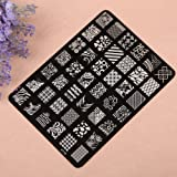 Wuiyepo Nail Art Bricolage Flower Design Nail art image timbre Plaques Stamping polonais Manucure image
