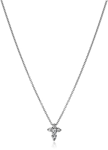 Amazon roberto coin tiny treasures 18k white gold diamond baby roberto coin tiny treasures 18k white gold diamond baby cross pendant necklace 110cttw aloadofball Image collections