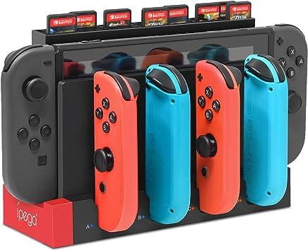 Base de carga FYOUNG para Nintendo Switch Joy-Cons, [versión actualizada] estación de carga para consola de conmutación y Joy-Cons: Amazon.es: Electrónica