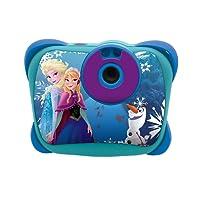 LEXIBOOK DJ134FZ - Fotocamera Digitale 5MP Disney Frozen con flash, design Elsa/Anna/Olaf, Schermo LCD, memoria 100 immagini, Blu/Viola