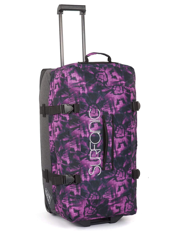Floral Bleach Violet Surfanic Luggage Maxim Roller Bag