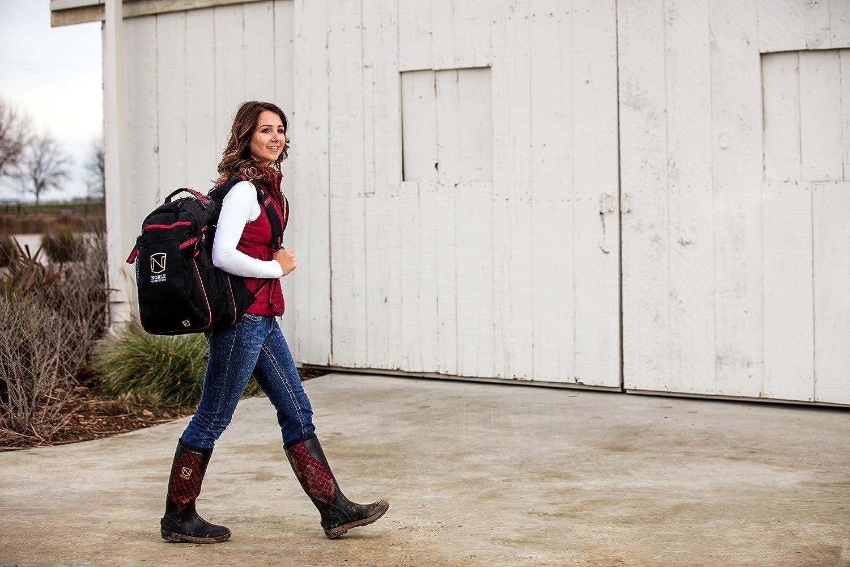 Noble Equestrian Ringside Pack Red Equine Horse Bag