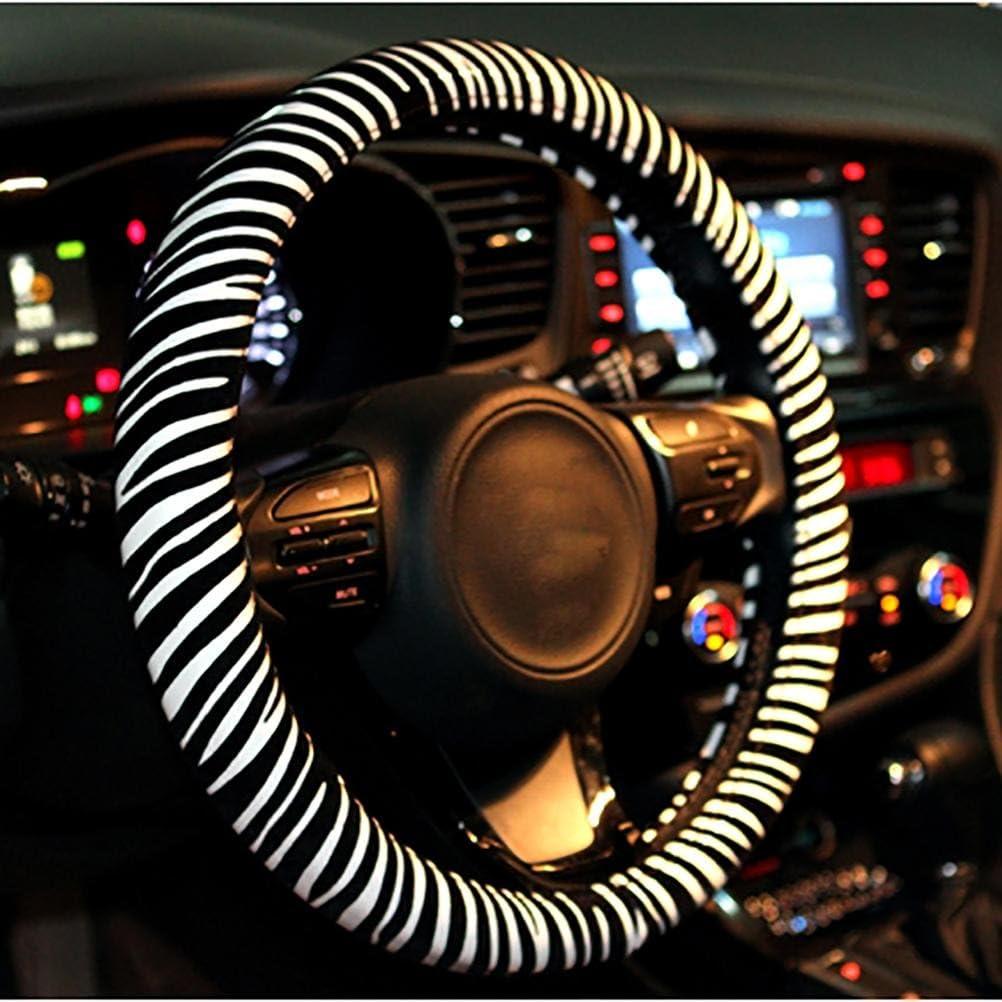 15Universal Auto Lenkradabdeckung Lenkradh/üllen Mit Mode Zebra Muster Ruirui 38CM