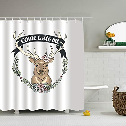 Amazon PQFLICS Creative 3D Animal Come With Me Deer Polyester