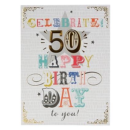 Hallmark - Tarjeta de felicitación de 50 cumpleaños (tamaño ...