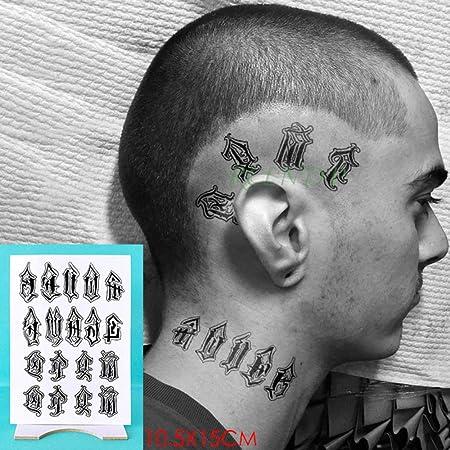 5pcs Impermeable engomada del Tatuaje del cráneo de la Cabeza ...
