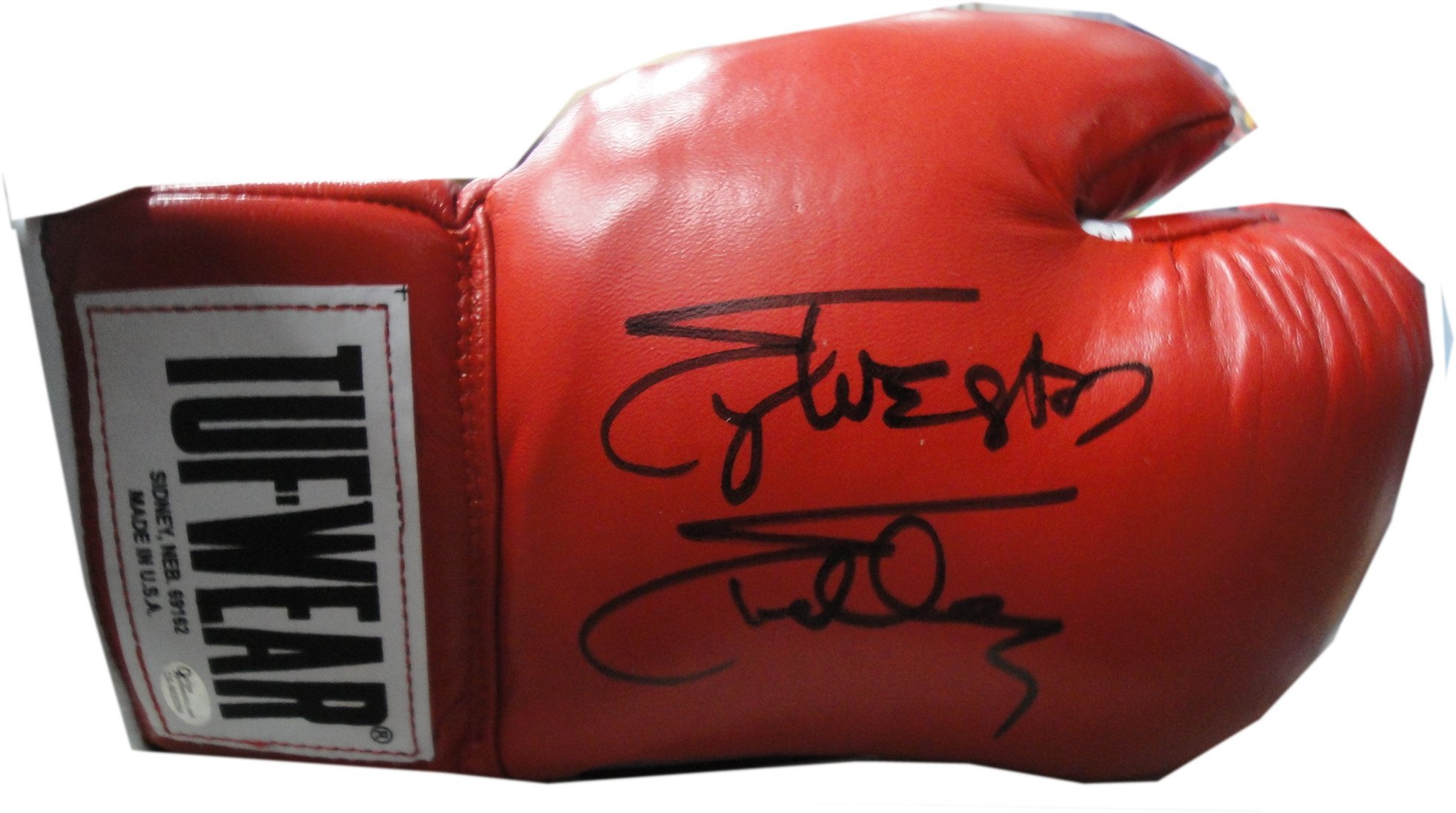 Sylvester Stallone Hand Signed Autographed Red Tuf Wear Boxing Glove OA COA