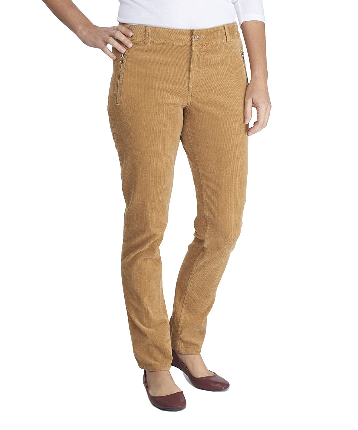 Woolrich Women's Penns Wood Cord Slim Pant, CAMEL (Brown), Size 8