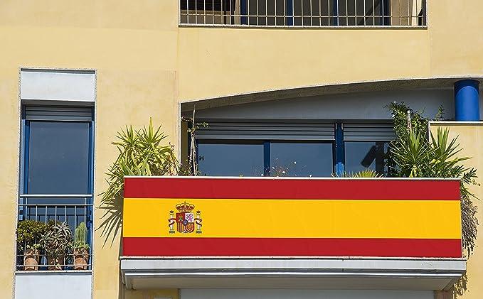 Bandera de España 250x150cm | Reforzada y con Pespuntes | Bandera de España Grande | Bandera Gran Formato | con Ojales Metálicos: Amazon.es: Hogar