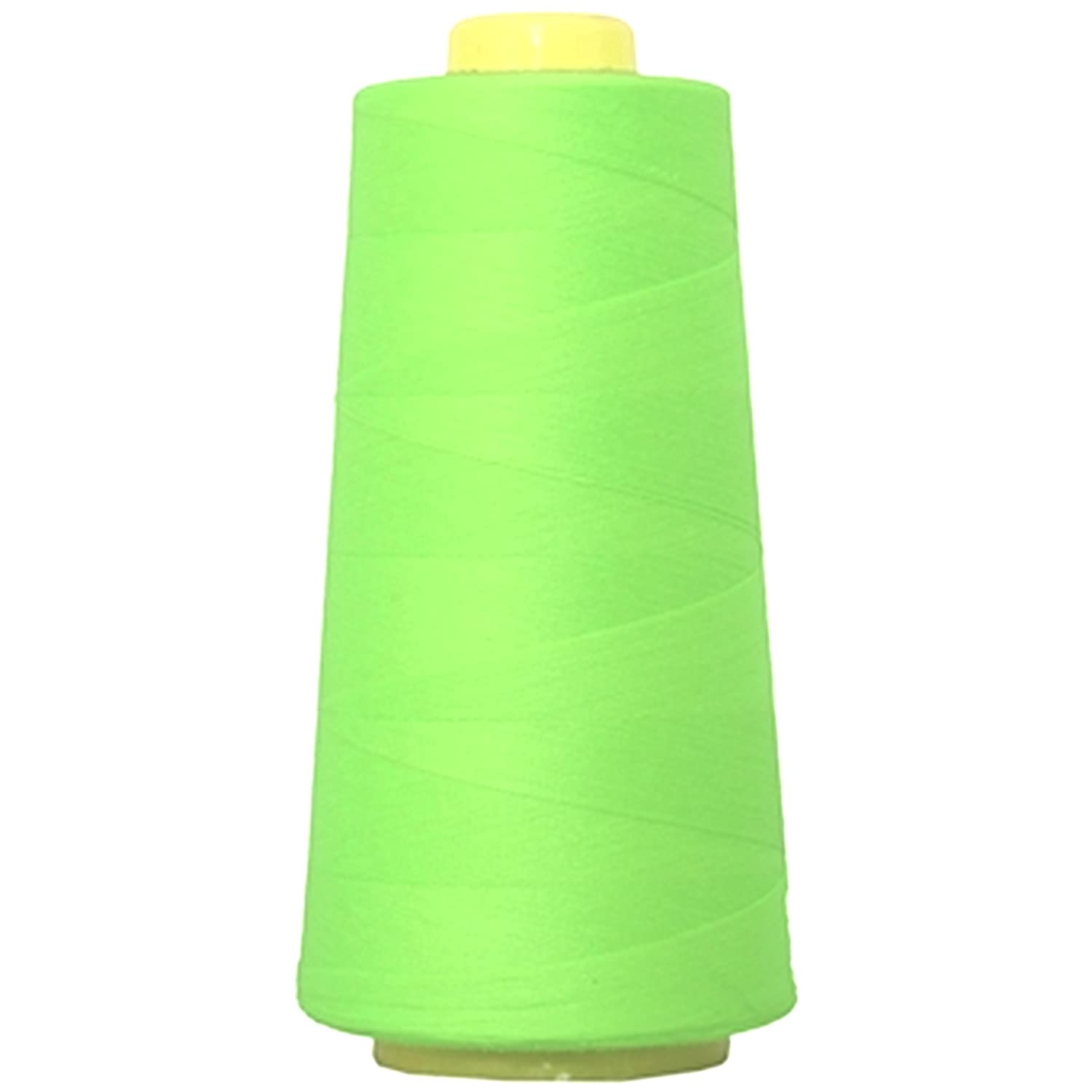 4 CONES 5000 YDS NEON YELLOW COMETA POLYESTER  OVERLOCK SEWING MACHINE THREAD