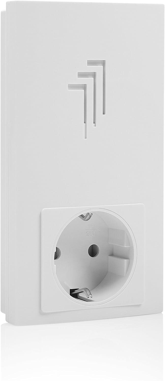 Tomas integradas Alcance 50 m Kit de timbre de puerta enchufable inal/ámbrico Byron DB421E