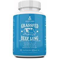Ancestral Supplements Beef Lung (with Liver) - Supports Lung, Respiratory, Vascular, Circulatory Health (180 Capsules)