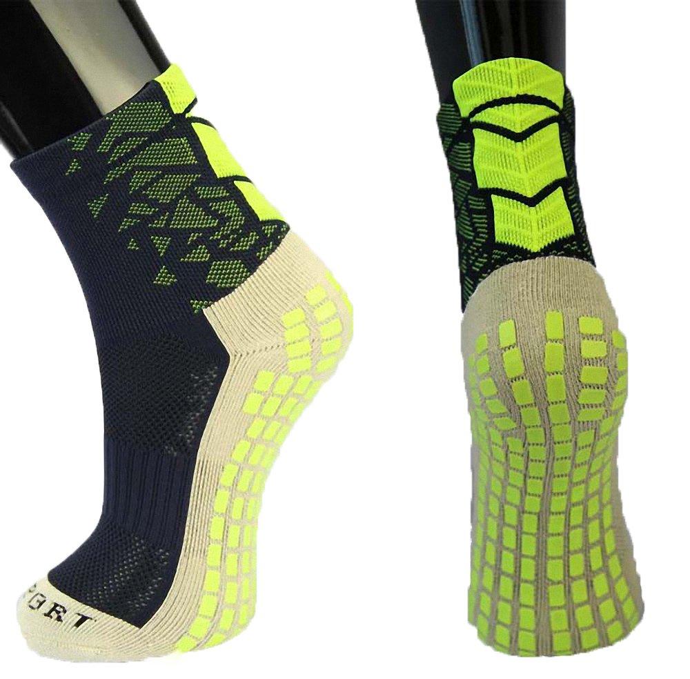 presoxユニセックススポーツ厚手クッションQuarter Socks withゴムドットの野球/サッカー/ Futbol Shinguards B01DW1Y8LAグリーン