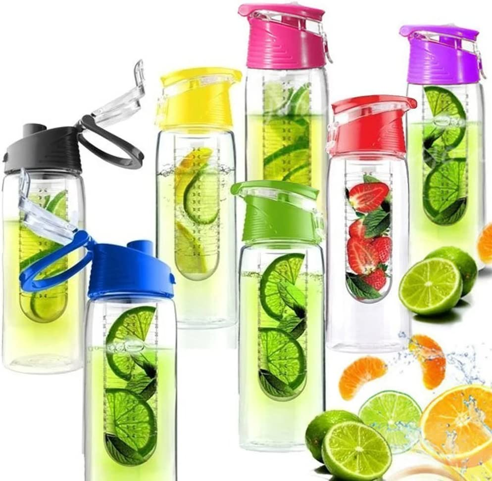 New Fruit Infusion Water Bottle with Fruit Infuser Aqua Hydration Sports Bottle