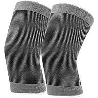 Penghayi Rodilleras 1 par de Rodilleras de algodón elástico de Punto cálido Rodilleras Deportivas for Correr, Crossfit, Baloncesto y Otros Excursionismo Al Aire Libre