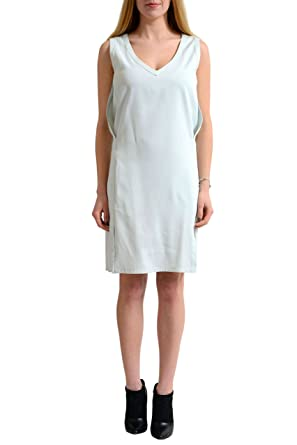 1b3bcceb360 Image Unavailable. Image not available for. Color: Martin Margiela MM6 Blue Sleeveless  Women's Sheath Dress ...