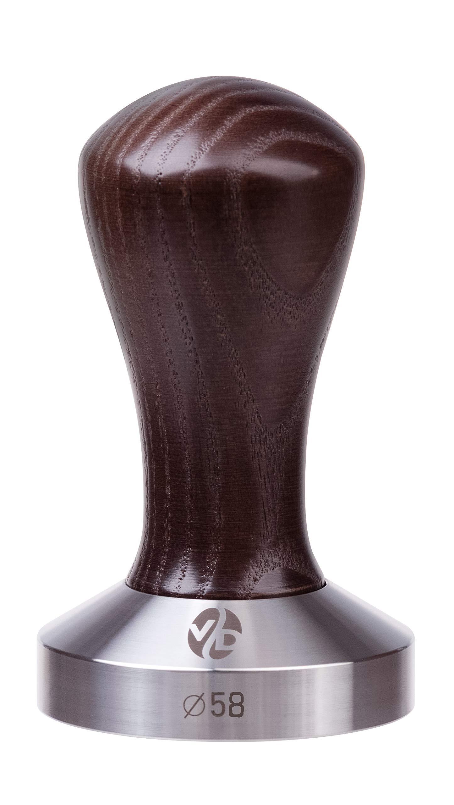 Tamper - Espresso Tamper - mm Tamper - Coffee Tamper Classic Series - Coffee Press Tool - Tamper Espresso - Stainless Steel Espresso Tamper - Handle Solid Wood - Pressure Base Tampers (venge, 58mm)