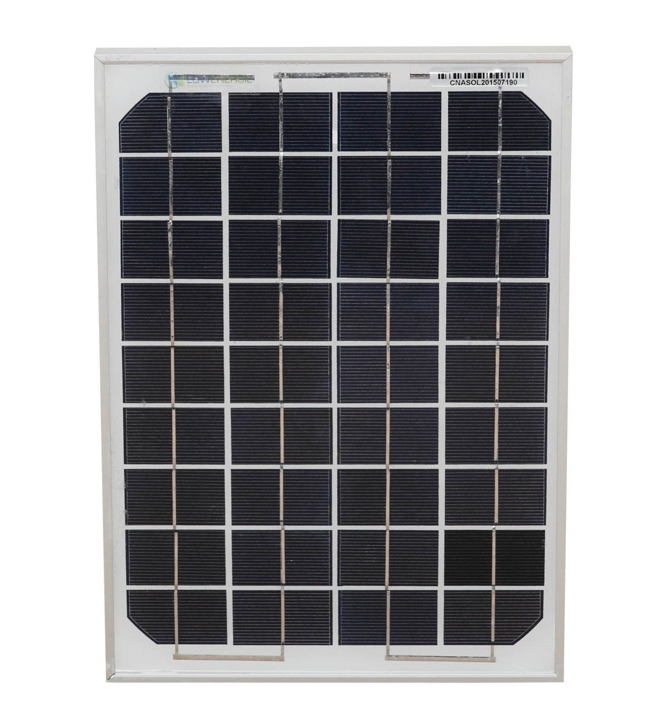 10w Mono Solar Panel PV Photo-voltaic with 4 metre cable & Crocodile clips - ideal for boat, caravan Lowenergie