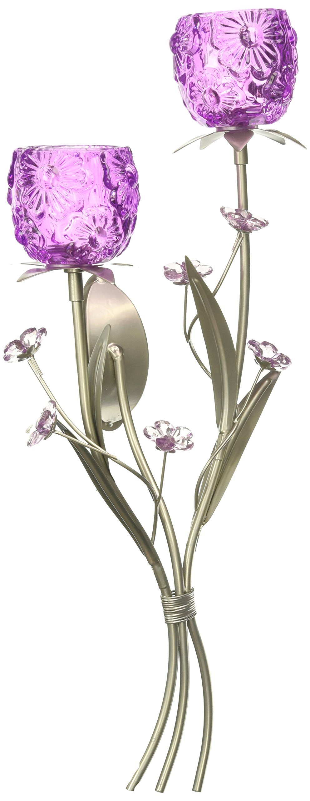 Zingz and Thingz Fuchsia Blooms Wall Sconce