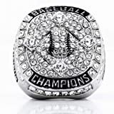 Signature Baseball Championship Ring w/Clear Stones