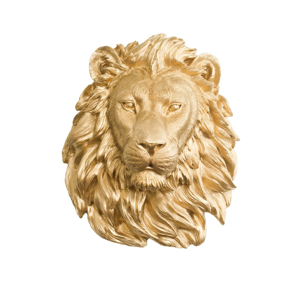Amazon.com: Wall Charmers Large Faux Lion Head | The Saharan Room ...