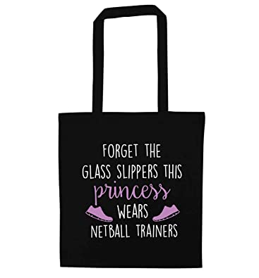 419243756efab Flox Creative Tote Bag Glass Slippers Princess Netball Boots Black ...