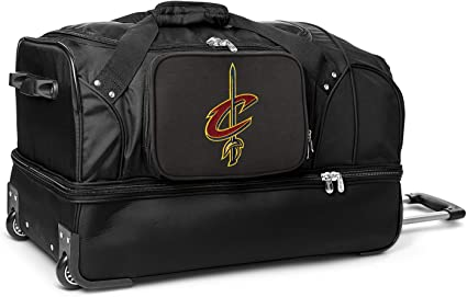 Nba Cleveland Cavaliers Rolling Drop Bottom Duffel Bag 27 Inches Amazon De Sport Freizeit