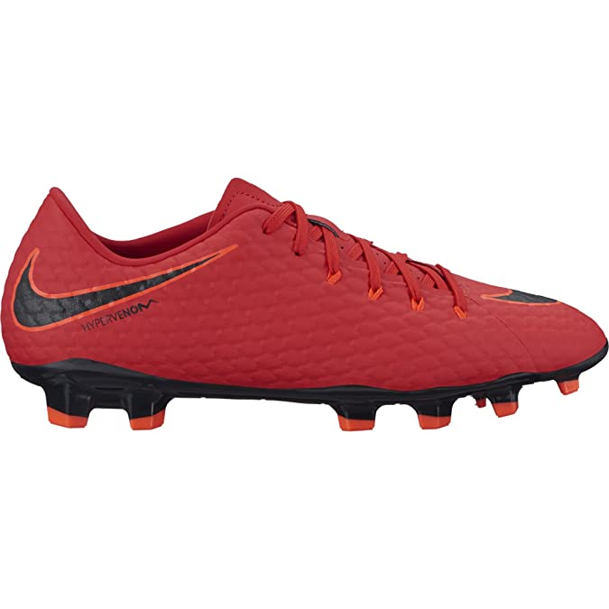 low priced e5a2a 60058 Nike Men s Hypervenom Phelon Iii Fg Football Boots Black Metallic Silver   Amazon.co.uk  Shoes   Bags