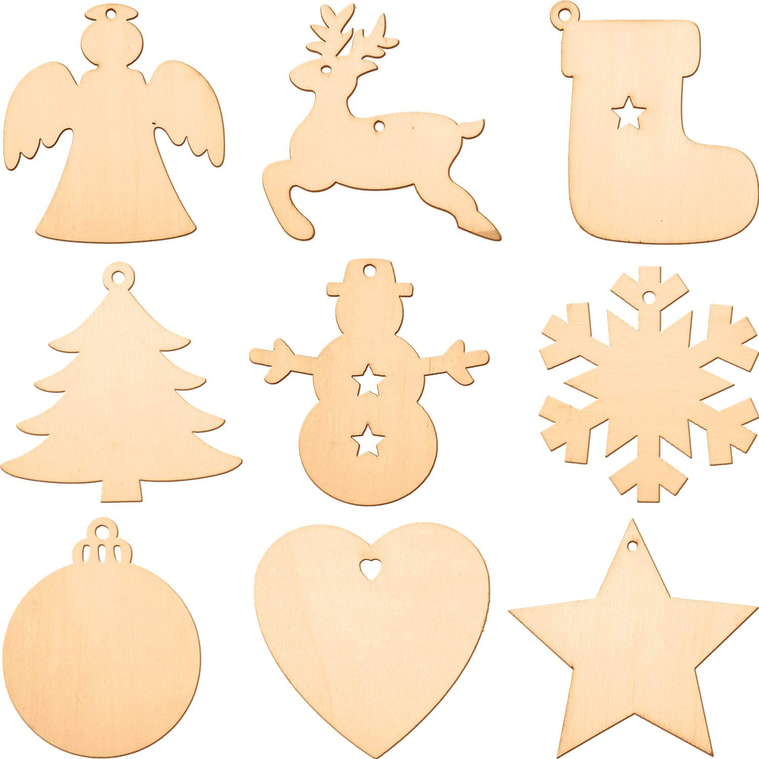 Large  Ready for decoupage or painting 15 x 15 cm Christmas Crafts Wooden Star