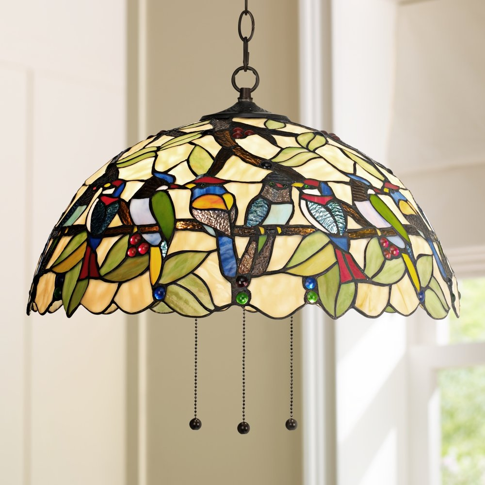 Robert louis tiffany tropical birds 20 w plug in pendant robert louis tiffany tropical birds 20 w plug in pendant chandeliers lighting swag amazon arubaitofo Gallery