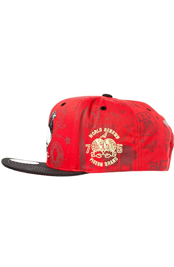 bfe0fb7f822 Staple Men s Mike Tyson x Staple Snapback Hat One Size Red at Amazon Men s  Clothing store  Baseball Caps