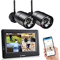 "SEQURO GuardPro DIY Long Range Home Security Camera System,Outdoor Surveillance Camera 7"" Touchscreen HD Monitor, Night…"