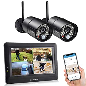 SEQURO GuardPro Wireless Security Camera System with DVR Kit