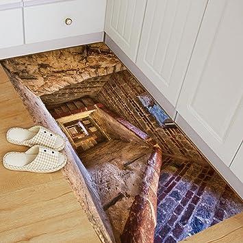 Moginp Wandaufkleber Abnehmbare 3d Boden Aufkleber Wandbild