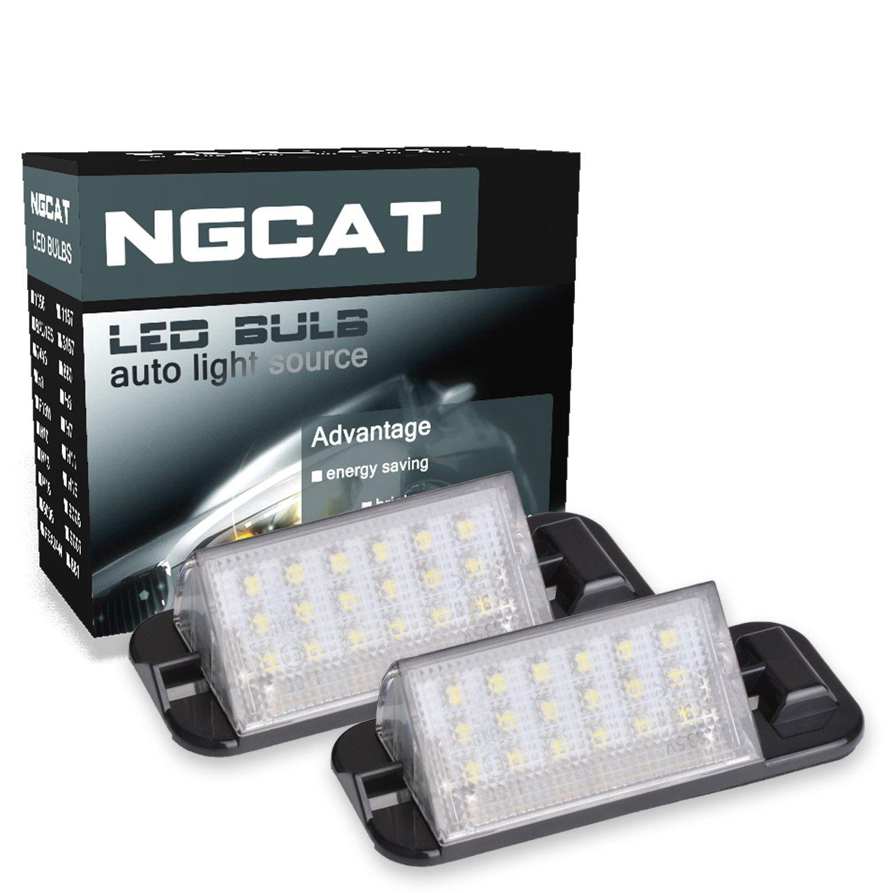 ngcat 1 par 18 SMD blanco 6000 K bombilla LED licencia nú mero placa lá mparas de luz 12 V