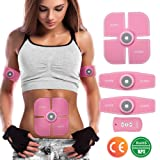 Muscle Toner, Charminer Abdominal Toning Belts EMS Abs Trainer, Body Fitness Trainer, Gym Workout And Home Fitness Apparatus For Women Rechargeable With USB