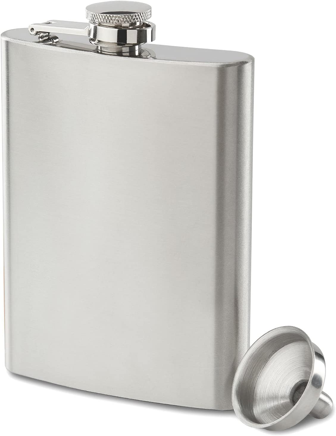 Future Hydrate 304 (18/8) Stainless Steel Leak Proof Liquor Hip Flask with Funnel and Gift Box, 8 oz