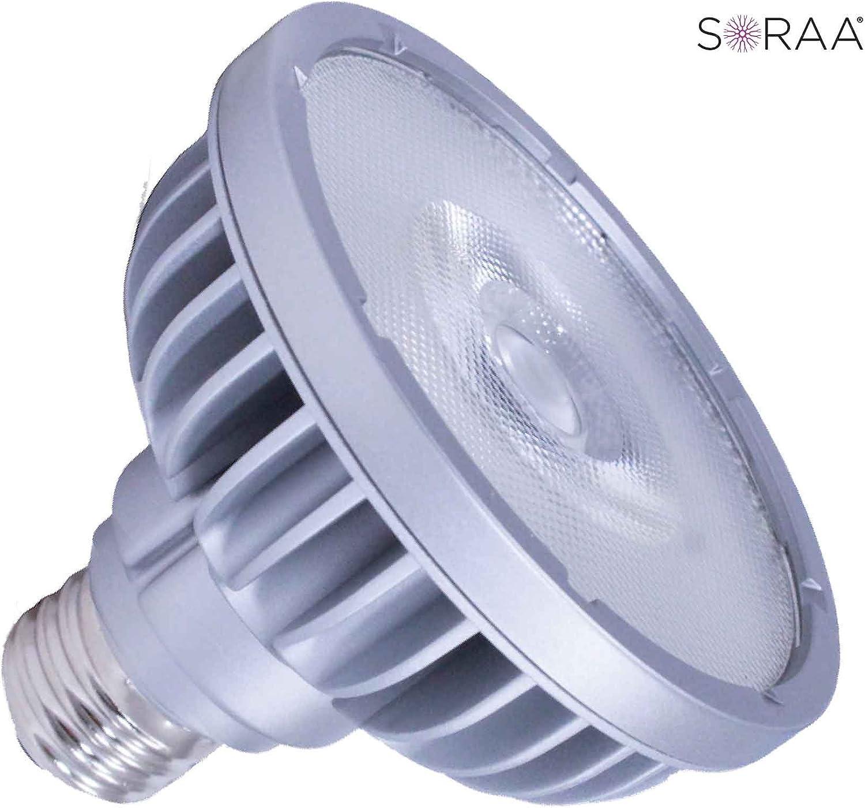 SORAA 18.5W LED PAR30S 2700K Vivid 36/° DIM 930 LUMENS 2700K Light Bulb Pack of 5