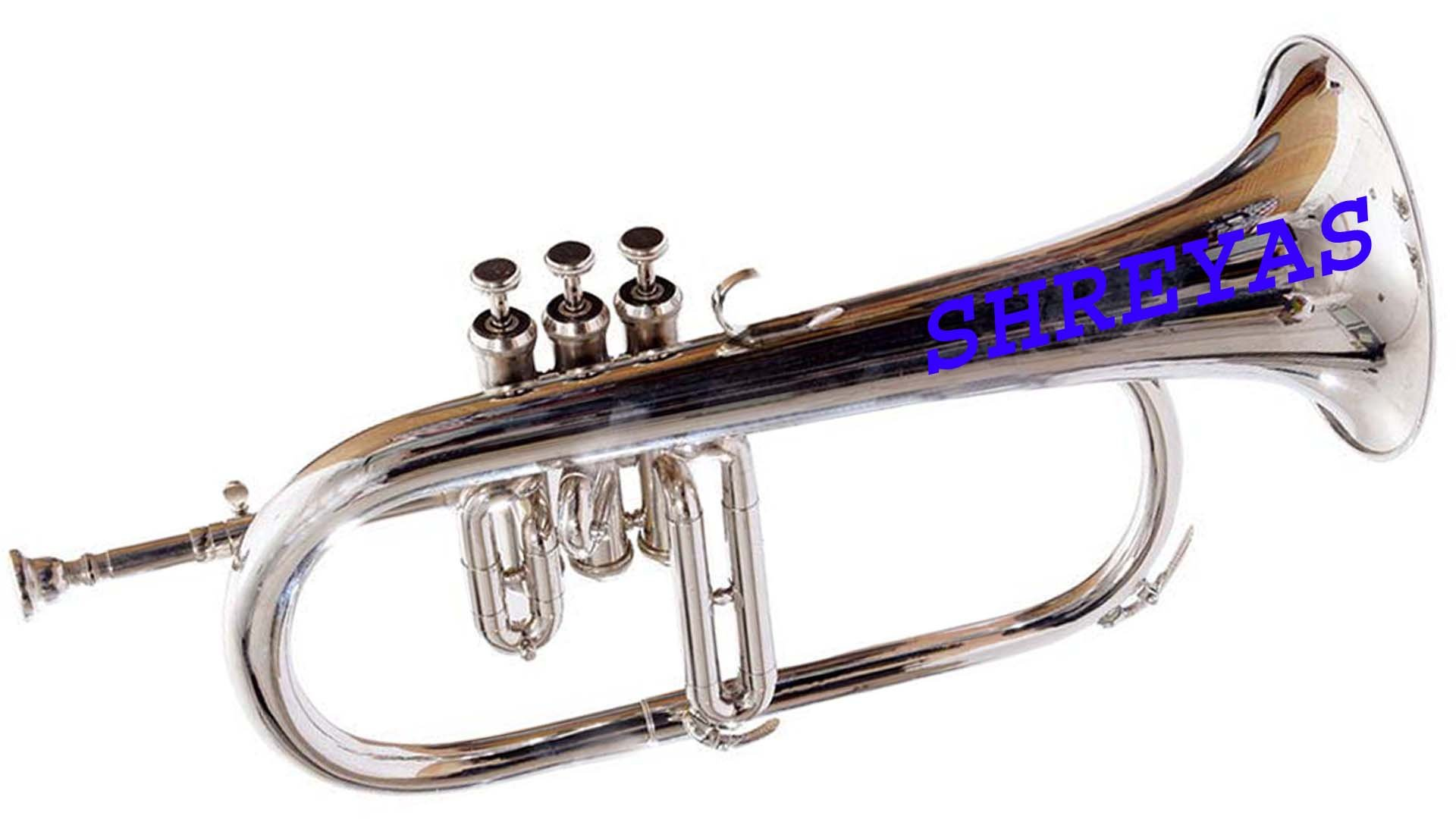 Bb Flat SILVER NICKLE Flugel Horn With Free Hard Case+Mouthpiece 456 by SHREYAS (Image #3)