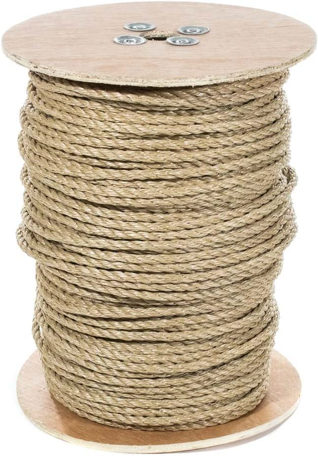 Crafts Sporting UnManila Polypropylene Rope Cordage All Purpose ProManila Cord for Decor Tug of War Rope 1 1//2 Inch x 25 Feet and Landscaping