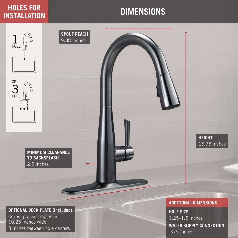 Delta 9113-AR-DST Essa Kitchen Sink Faucet