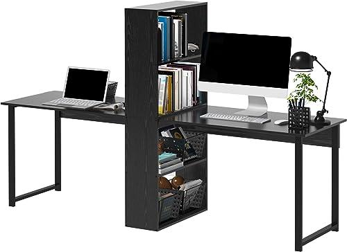 """HOMCOM 88"""" Extra Long 2-Person Computer Desk"""