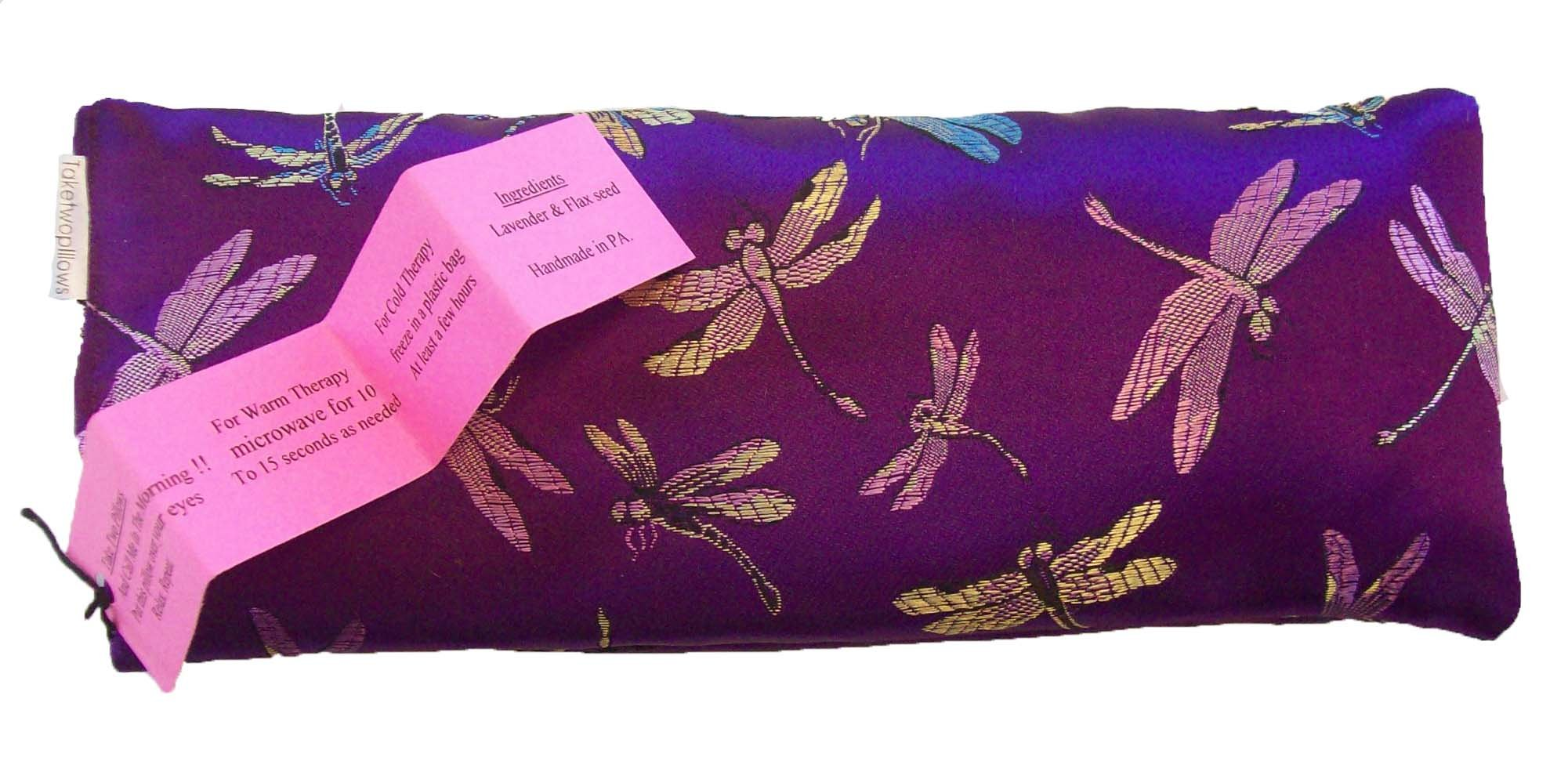 Flax Seed Eye Pillow with Lavender Buds and Matching Slip Cover