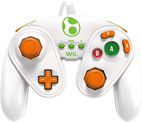 PDP - Mando Fight Pad Con Cable, Diseño Yoshi (Nintendo Wii U): Amazon.es: Videojuegos