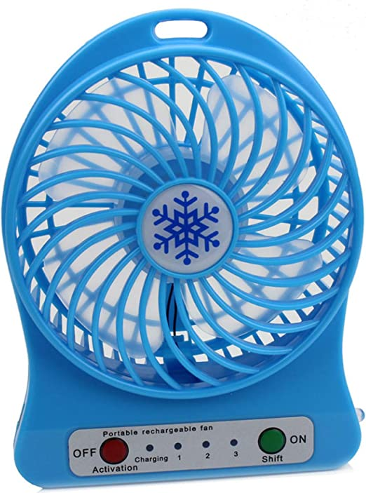 Portable Small Rechargeable LED Fan air Cooler Mini Operated Desk USB Or Battery