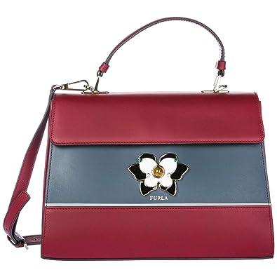 a5080cceeb3e8 Furla Handtasche Damen Tasche Schultertasche Messenger Bag Mughetto Rot   Amazon.de  Schuhe   Handtaschen