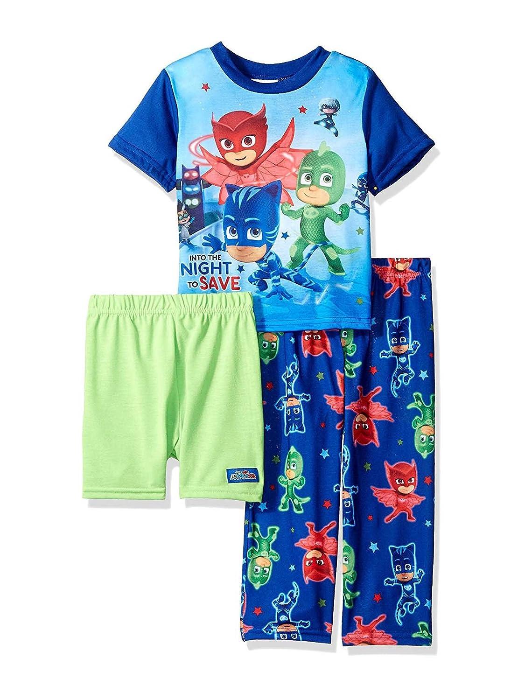 ebc5c7c1de3 Amazon.com  PJ Masks Toddler Boys 3 piece Shorts Pajama Set  Clothing